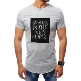 BASIC Pánské šedé tričko (rx2413) Velikost: M