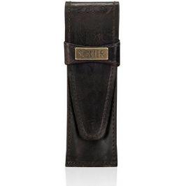 Pánské kožené pouzdro na pero SOLIER (SA12 DARK BROWN) Velikost: univerzální