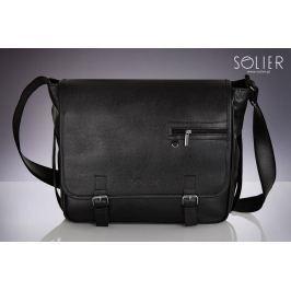 Pánská černá taška SOLIER (S12 BLACK MATTE) velikost: univerzální, odstíny barev: černá