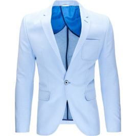 BASIC Pánské světle modré sako (mx0325) velikost: 2XL, odstíny barev: modrá