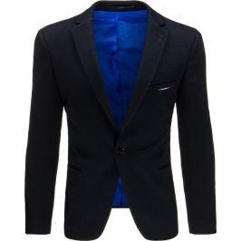 BASIC Pánské tmavě modré sako (mx0335) velikost: S, odstíny barev: modrá