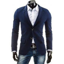 BASIC Pánské modré sako (mx0002) velikost: XL, odstíny barev: modrá