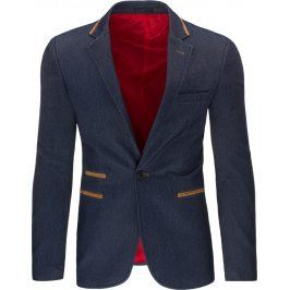 BASIC Elegantní pánské sako (mx0171) velikost: S, odstíny barev: modrá