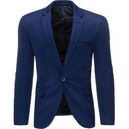 BASIC Pánské modré sako (mx0204) velikost: 2XL, odstíny barev: modrá