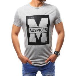 BASIC Pánské šedé tričko (rx2434) velikost: M, odstíny barev: šedá