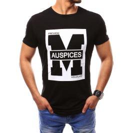 BASIC Pánské černé tričko (rx2435) velikost: M, odstíny barev: černá