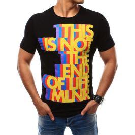 BASIC Pánské černé tričko (rx2481) velikost: 2XL, odstíny barev: černá