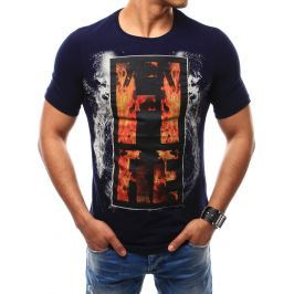BASIC Pánské tričko tmavě modré (rx2499) velikost: 2XL, odstíny barev: modrá