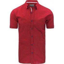 BASIC Elegantní bordová košile (kx0780) velikost: M, odstíny barev: červená