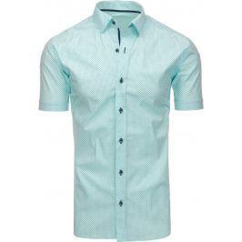 BASIC Elegantní mátová košile (kx0788-Viadi Polo 90) velikost: M, odstíny barev: zelená