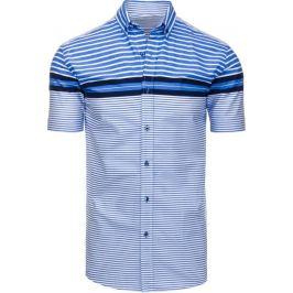BASIC Pánská pruhovaná modrá košile (kx0790) Velikost: M