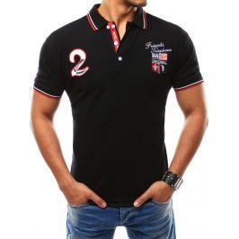 BASIC Pánské černé tričko (px0111) velikost: M, odstíny barev: černá