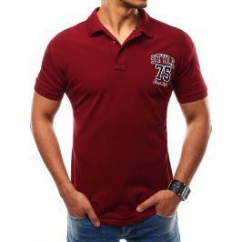 BASIC Pánské bordové tričko (px0116) velikost: M, odstíny barev: červená