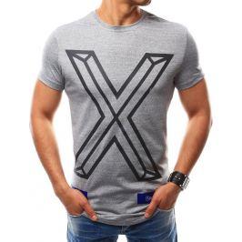 BASIC Pánské šedé tričko s potiskem (rx2561) Velikost: M