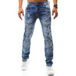 BASIC Pánské modré džíny (ux0935) velikost: 34, odstíny barev: modrá