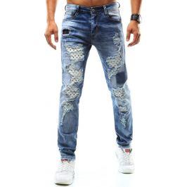 BASIC Pánské modré džíny (ux0941) velikost: 34, odstíny barev: modrá