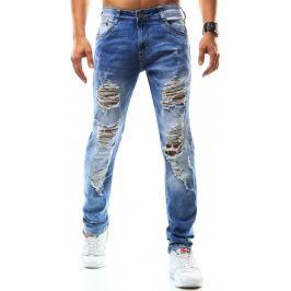 BASIC Pánské modré džíny (ux0943) velikost: 34, odstíny barev: modrá
