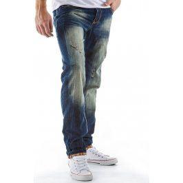 BASIC Pánské modré džíny (ux0122) velikost: 30, odstíny barev: modrá