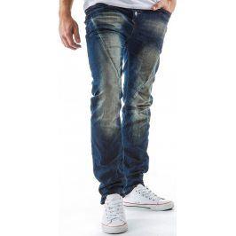 BASIC Pánské modré džíny (ux0125) velikost: 28, odstíny barev: modrá