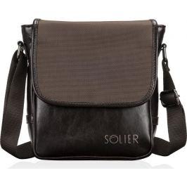 Pánská taška Solier (SL07 DARK BROWN) Velikost: univerzální