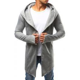 BASIC Pánská šedá pláštěnka s kapucí (bx2348) velikost: S, odstíny barev: šedá