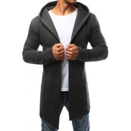 BASIC Šedá pánská pláštěnka s kapucí (bx2349) velikost: S, odstíny barev: šedá
