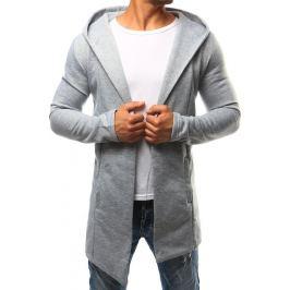 BASIC Šedá pánská pláštěnka  s kapucí (bx2351) velikost: S, odstíny barev: šedá