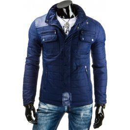 BASIC Pánská modrá bunda (tx1146) velikost: 2XL, odstíny barev: modrá
