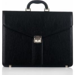 SOLIER Pánský černý kufřík S20 BLACK velikost: univerzální, odstíny barev: černá