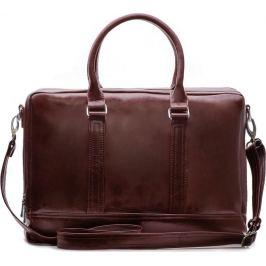 SOLIER Pánská kožená bordovo-hnědá taška (SL02 BROWN-MAROON) Velikost: univerzální