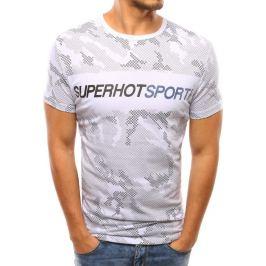 BASIC Pánské bílé tričko s nápisem (rx2916) Velikost: M