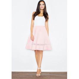 FIGL Růžová vyšívaná sukně s vysokým pasem M367 Velikost: L