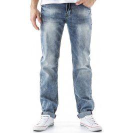 BASIC Pánské modré džíny (ux0166) velikost: 30, odstíny barev: modrá