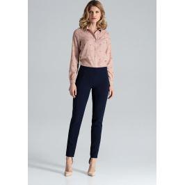FIGL Klasické kalhoty s vysokým pasem  M328 Navy Velikost: L