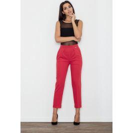 FIGL Dámské červené kalhoty ke kotníkům M552CE Velikost: S