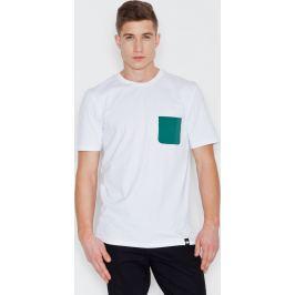 VISENT Bílé bavlněné tričko V002 White Velikost: L