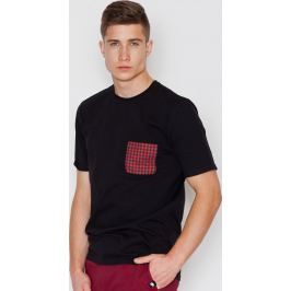 VISENT Černé bavlněné tričko V002 Black Velikost: L