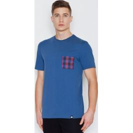 VISENT Modré bavlněné tričko V002 Blue Velikost: L