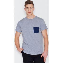 VISENT Šedé bavlněné tričko V002 Grey Velikost: L