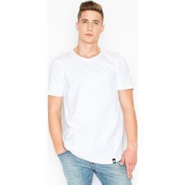 VISENT Bílé bavlněné tričko V025 White Velikost: L