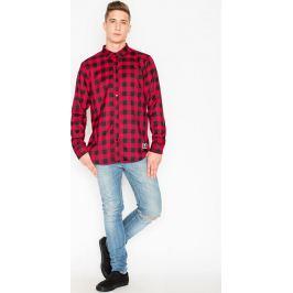 VISENT Červená kostkovaná košile V026 Red Velikost: M