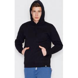 VISENT Černá bavlněná mikina s kapucí V006 Black Velikost: L