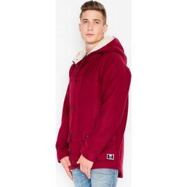 VISENT Pánská teplá bunda V030 Deep red Velikost: L