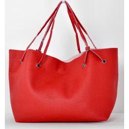 BASIC Červená kabelka s dvojitýma ušima - TR123 Velikost: univerzální