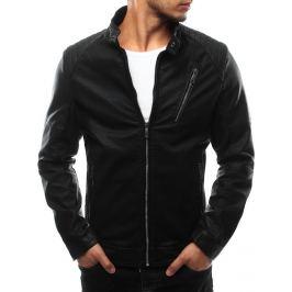 BASIC Pánská černá bunda eko kůže (tx1727) Velikost: 2XL