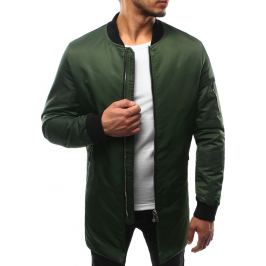 BASIC Pánská zelená prodloužená bunda (tx1743) Velikost: 2XL