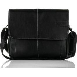 Pánská černá taška přes rameno Solier (S15) velikost: univerzální, odstíny barev: černá