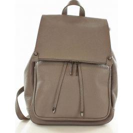 VERA PELLE Praktický šedý batoh z přírodní kůže DALLAS - pl32b Velikost: univerzální
