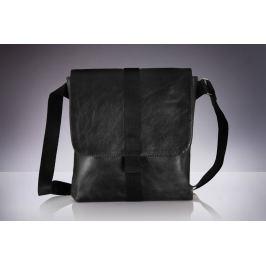 Pánská černá taška přes rameno Solier (Messel SL31) velikost: univerzální, odstíny barev: černá