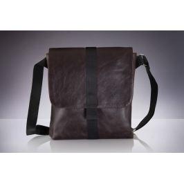 Pánská hnědá taška přes rameno Solier (SL31 BROWN) Velikost: univerzální